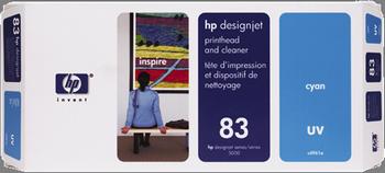 TINTA DE EXTERIOR UV CABEZAL DE IMPRESION Y CIAN HP Nº 83