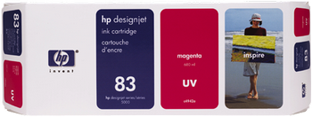 CARTUCHO DE TINTA DE EXTERIOR UV MAGENTA 680 ML HP Nº 83