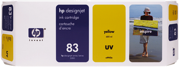 CARTUCHO DE TINTA DE EXTERIOR UV AMARILLO 680 ML HP Nº 83