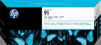 CARTUCHO DE TINTA GRIS CLARO 775 ML HP Nº 91
