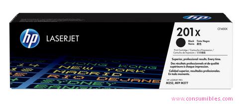 Comprar cartucho de toner alta capacidad CF400X de HP online.