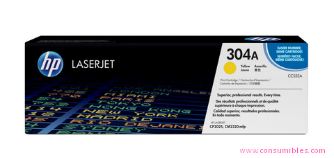 Comprar cartucho de toner CC532A de HP online.