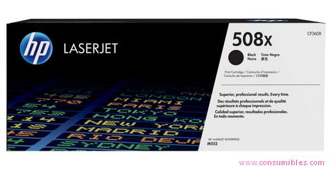 Comprar cartucho de toner alta capacidad CF360X de HP online.