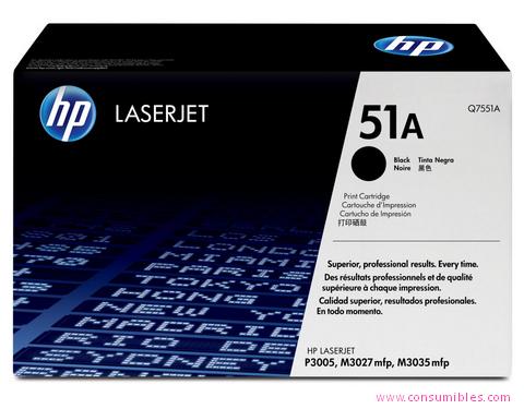 Comprar cartucho de toner Q7551A de HP online.
