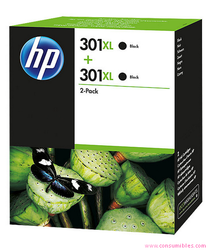 Comprar Pack de 3 cartuchos de tinta alta capacidad D8J45AE de HP online.