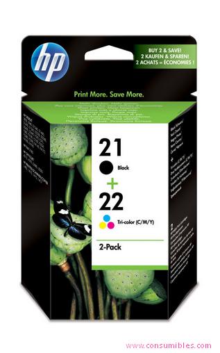 Comprar Pack 2 cartuchos de tinta SD367AE de HP online.