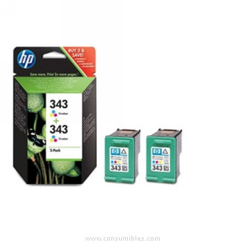 CARTUCHO DE TINTA TRICOLOR 2 PACK HP Nº 343