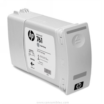 PACK DE 3 CARTUCHOS DE TINTA GRIS OSCURO 400 ML PACK 3 HP Nº 761