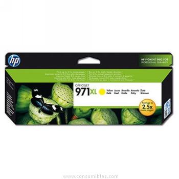 CARTUCHO DE TINTA AMARILLO ALTA CAPACIDAD HP Nº 971XL para OfficeJet Pro X576dw