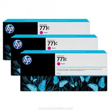 PACK DE 3 CARTUCHOS DE TINTA GRAN FORMATO MAGENTA 775 ML PACK 3 HP Nº 771