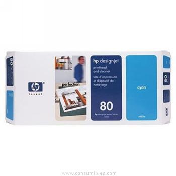 CABEZAL DE IMPRESION CIAN HP Nº 80
