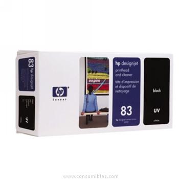 TINTA DE EXTERIOR UV CABEZAL DE IMPRESION Y NEGRO HP Nº 83
