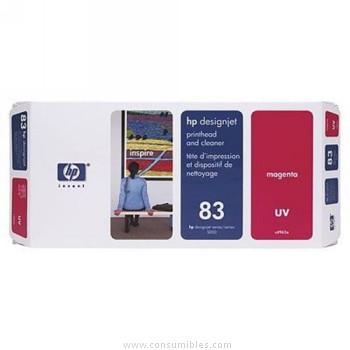 TINTA DE EXTERIOR UV CABEZAL DE IMPRESION Y MAGENTA HP Nº 83