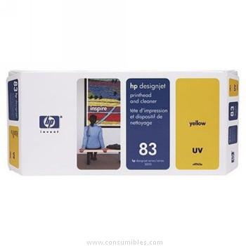 TINTA DE EXTERIOR UV CABEZAL DE IMPRESION Y AMARILLO HP Nº 83