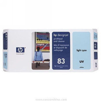 TINTA DE EXTERIOR UV CABEZAL DE IMPRESION Y CIAN CLARO HP Nº 83