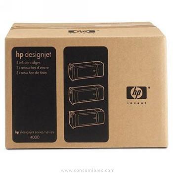 PACK DE 3 CARTUCHOS DE TINTA AMARILLO 400 ML PACK 3 HP Nº 90