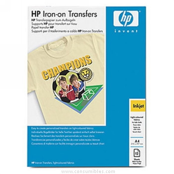 PAPEL TRANSFER DIN A4 10 HOJAS HP
