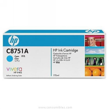 CARTUCHO DE TINTA CIAN 775 ML COLOR HP
