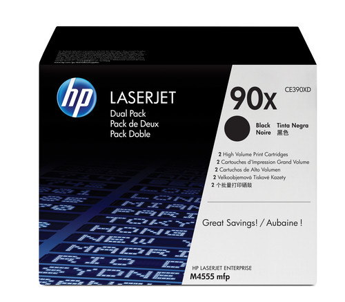Comprar pack 2 cartuchos de toner CE390XD de HP online.