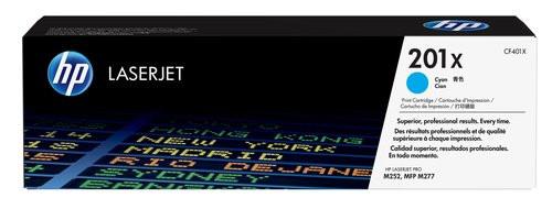 Comprar cartucho de toner alta capacidad CF401X de HP online.