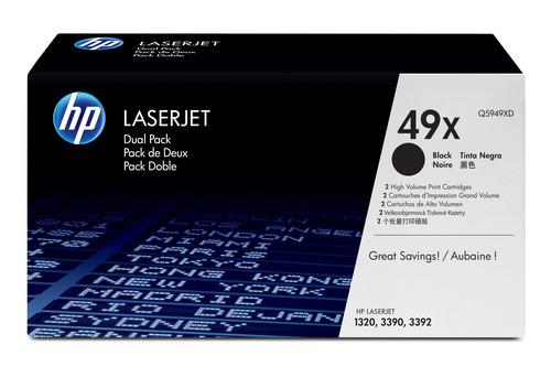 Comprar pack 2 cartuchos de toner Q5949XD de HP online.