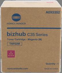 CARTUCHO DE TONER MAGENTA KONICA-MINOLTA TNP-22M para Bizhub C35P