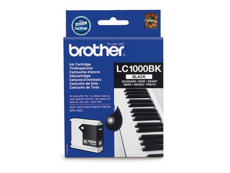 CARTUCHO DE TINTA NEGRO BROTHER LC-1000BK