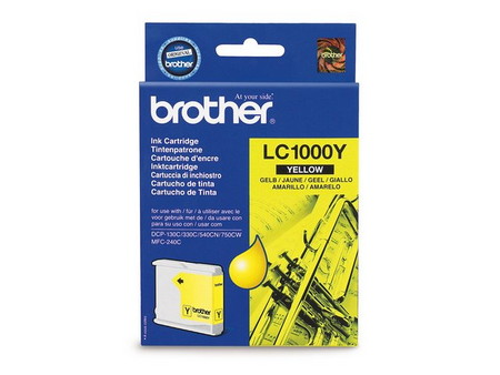 CARTUCHO DE TINTA AMARILLO BROTHER LC-1000Y