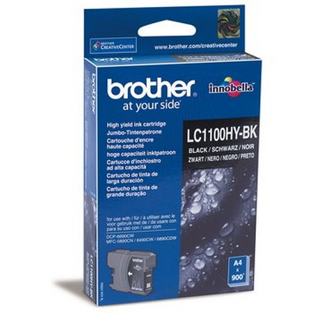 CARTUCHO DE TINTA NEGRO ALTA BROTHER LC-1100HYBK