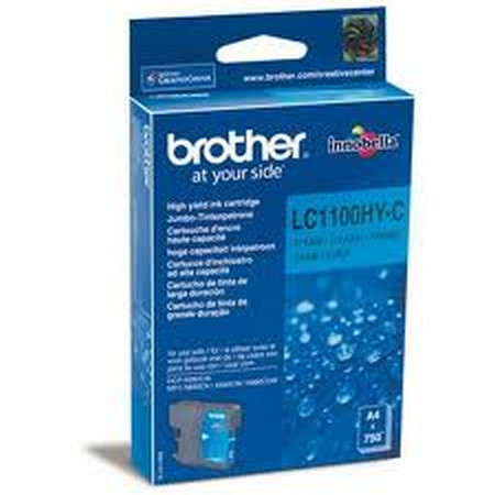CARTUCHO DE TINTA CIAN ALTA BROTHER LC-1100HYC