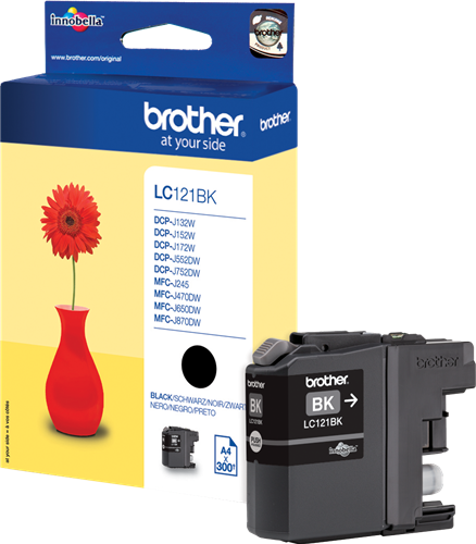 CARTUCHO DE TINTA NEGRO BROTHER LC-121BK