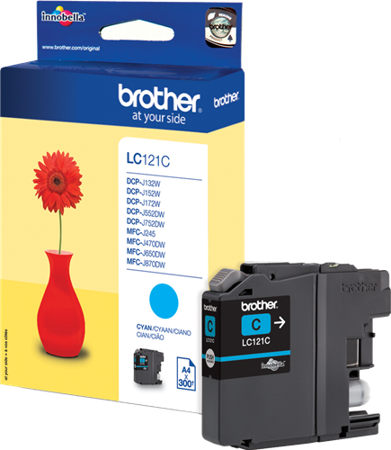 CARTUCHO DE TINTA CIAN 3.9 ML BROTHER LC-121C