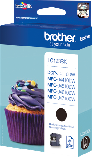 CARTUCHO DE TINTA NEGRO BROTHER LC-123BK
