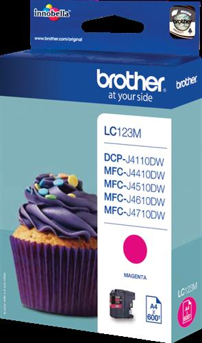 Cartuchos de tinta CARTUCHO DE TINTA MAGENTA BROTHER LC-123M