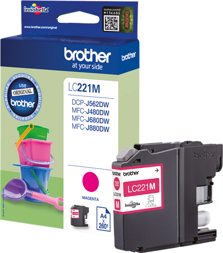 CARTUCHO DE TINTA MAGENTA 3.9 ML BROTHER LC-221