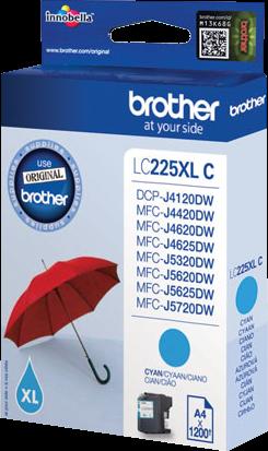 Comprar cartucho de tinta LC225XLC de Brother online.