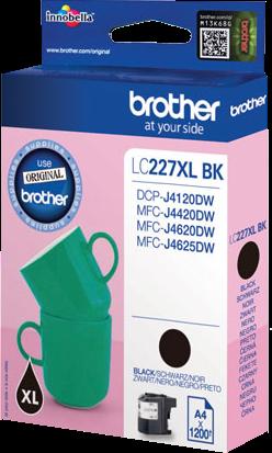 Comprar cartucho de tinta LC227XLBK de Brother online.
