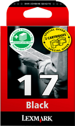 CARTUCHO DE TINTA NEGRO PACK 2 LEXMARK Nº 17PLUS