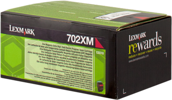 CARTUCHO DE TONER MAGENTA RETORNABLE LEXMARK 702XM