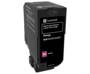 LEXMARK 74C2HM0 KIT DE TÓNER MAGENTA RETURN PROGRAM, 12.000 PÁGINAS ISO/IEC 19798 PARA CS 720 SERIES/CX 720 SERIES/725 SERIES