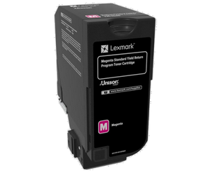 LEXMARK 74C2SM0 KIT DE TÓNER MAGENTA RETURN PROGRAM, 7.000 PÁGINAS ISO/IEC 19798 PARA CS 720 SERIES/CX 720 SERIES