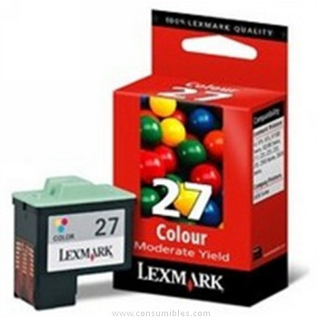 CARTUCHO DE TINTA COLOR ECONOMICO LEXMARK Nº 27PLUS