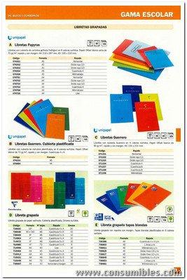 ENVASE DE 10 UNIDADES CLAIREFONTAINE LIBRETA GRAPADA 40H A4 CUADRICULA 5X5 SURTIDO 63122C