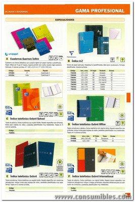 ENVASE DE 10 UNIDADES CLAIREFONTAINE INDICE ABECEDARIO AZ 50 H 110X170 90 GR 68699C