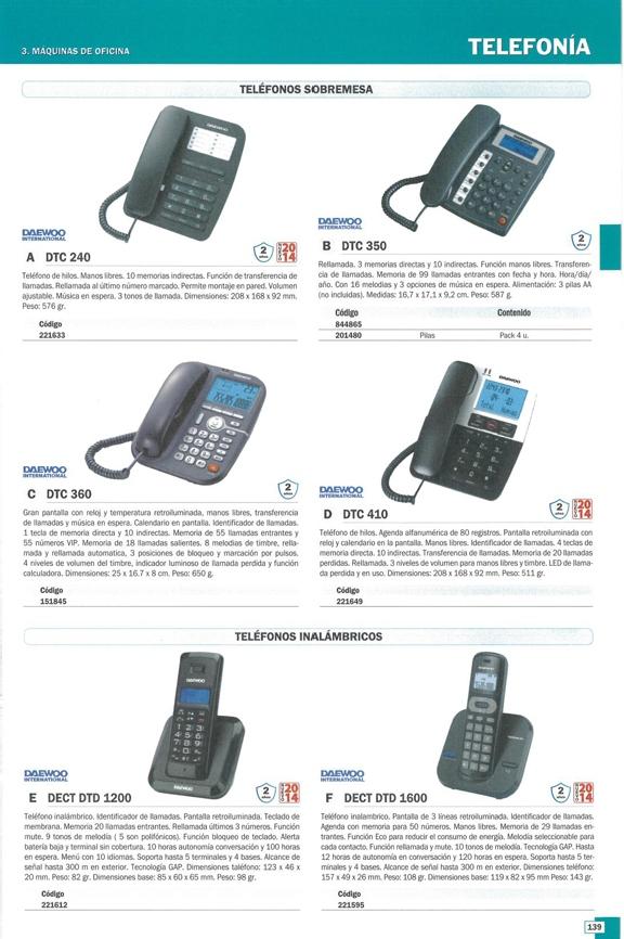 DAEWOO TELEFONO INALAMBRICO DTC 410 INALAMBRICO DW0061