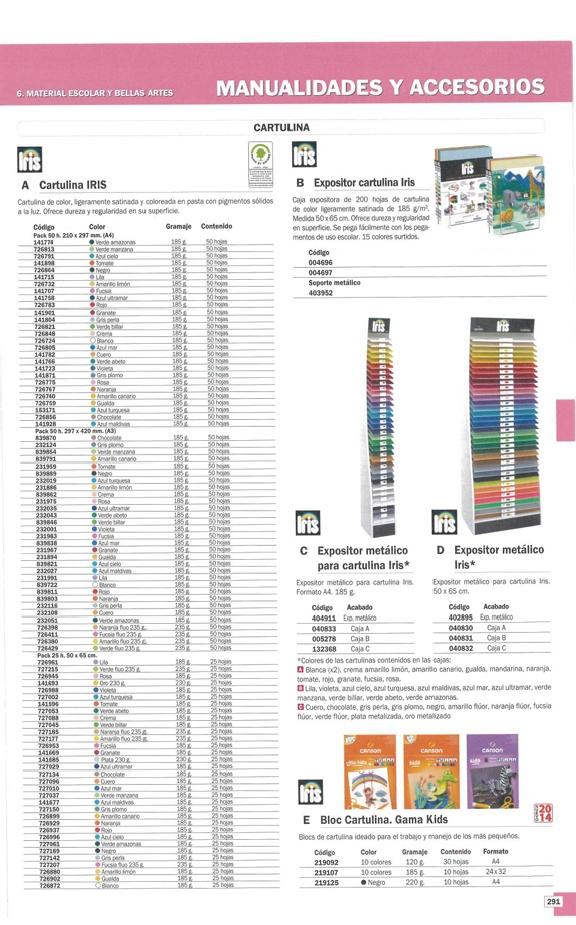 CANSON BLOC CARTULINA 30 HOJAS COLORES SURTIDOS A4 400015600