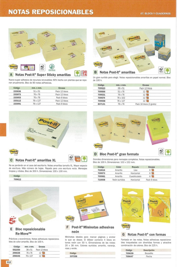 POST-IT NOTAS ADHESIVAS SUPER STICKY PACK 6 BLOCS 90H AMARILLO 76X76MM 654-6SSCY-EU