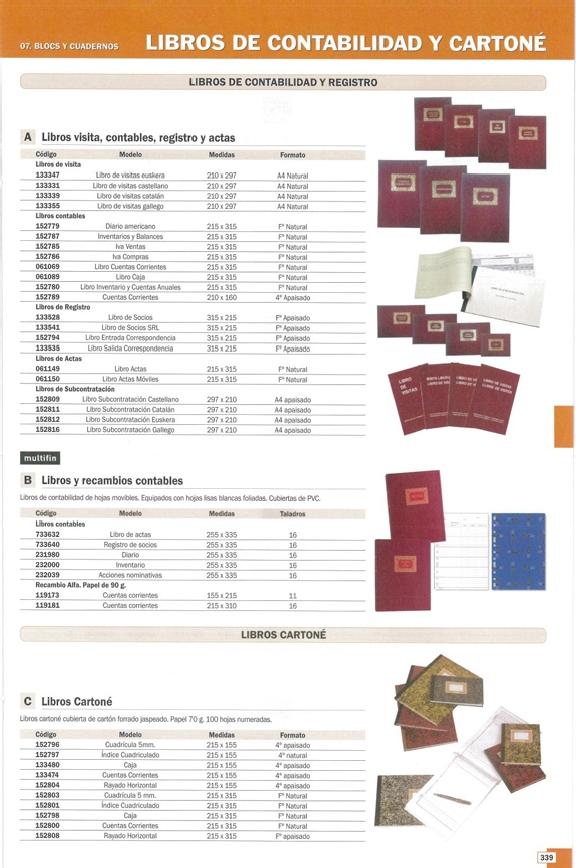 MULTIFIN LIBRO INVENTARIO  255X335 100 HOJAS 4032739