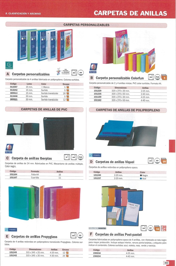 FOLDERMATE CARPETA ANILLAS POST-PASTEL 4-40 MM COLORES SURTIDOS PERSONALIZABLE 21499-PP