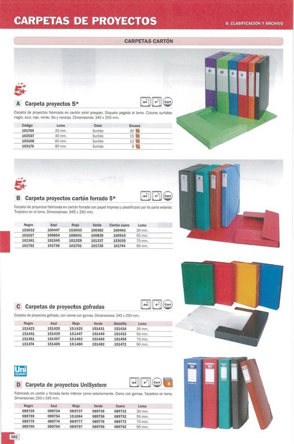 Carpetas de proyectos 5 ESTRELLAS SPICERS CARPETAS PROYECTO 345X250X70 CUERO CARTON FORRADO 101353-S